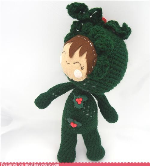 Amigurumi christmas costume Crocheted holly - 5219386624