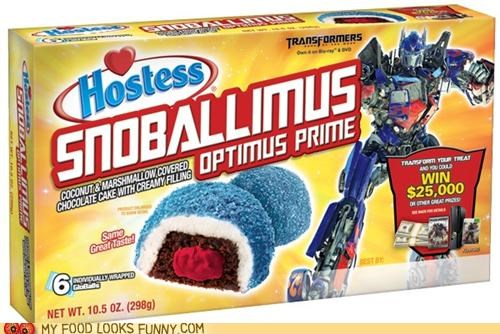 cakes hostess junk food snoballs sweets transformers - 5219627520