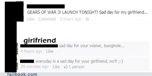 Gears of War girlfriend launch oh snap witty reply - 5219645440