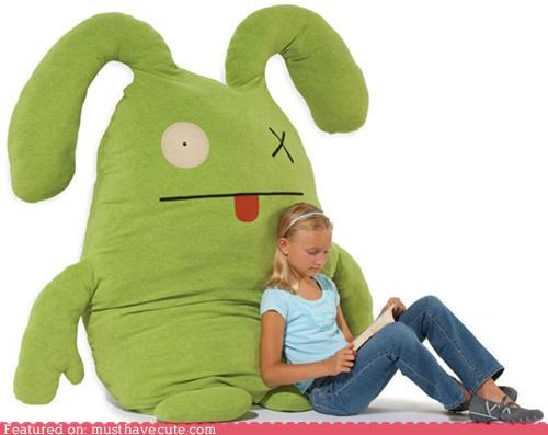 giant green Pillow Plushie stuffed uglydoll - 5219649792