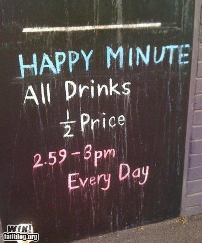 advertising bar chalk drinking happy hour sign - 5219853056