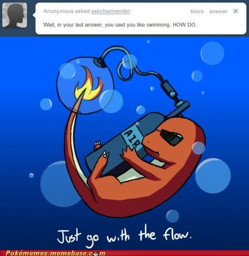 air charmander flame how meme Memes swimming - 5219958784
