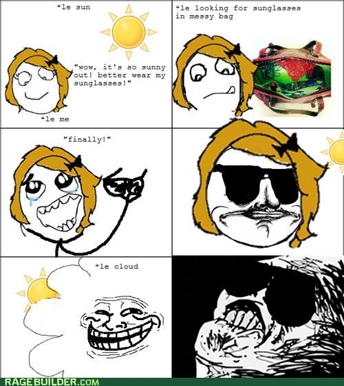 Rage Comics shade sun sunglasses