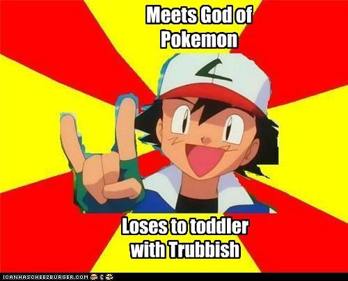 Meets God of Pokemon Loses to toddler with Trubbish
