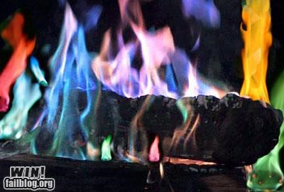 DIY fireplace flame pretty colors rainbow science - 5220109568