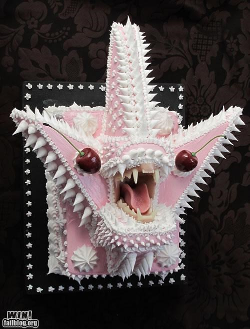 art cake creepy design food scary teeth weird - 5220124672