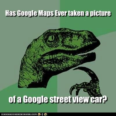 google,mirror,philosoraptor,picture,street car