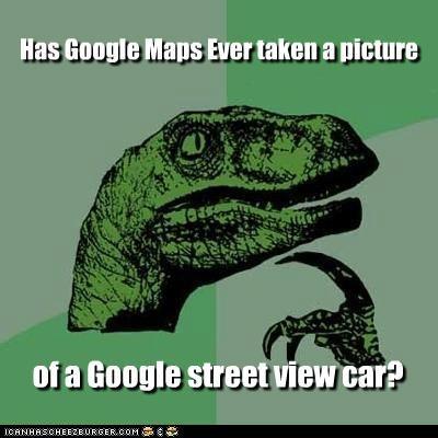 google mirror philosoraptor picture street car - 5220133632