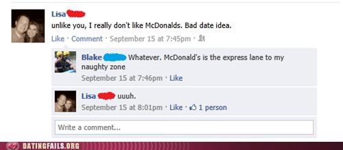 facebook,fast food,McDonald's,We Are Dating
