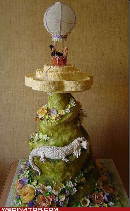 cake,funny wedding photos,Hall of Fame,neverending story,wedding cake