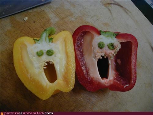 faces food pepper surprise wtf