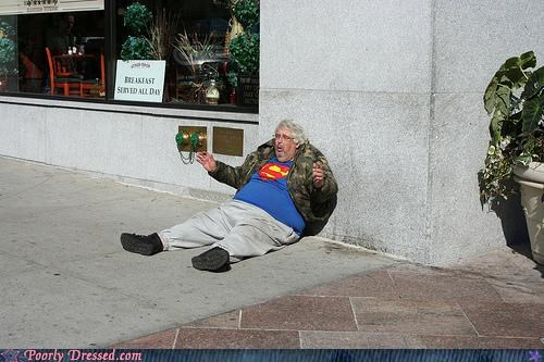 camo jacket street superman