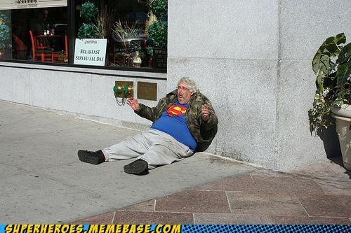 drunk Random Heroics shirt superman wtf