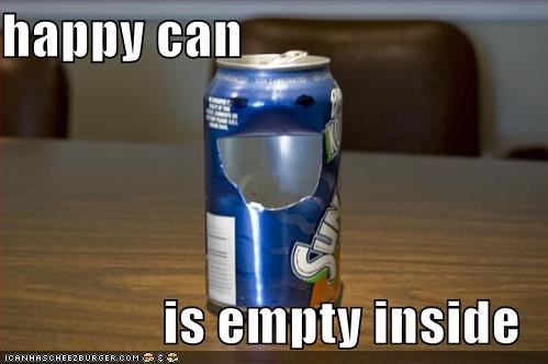 cans,emo,empty,happy