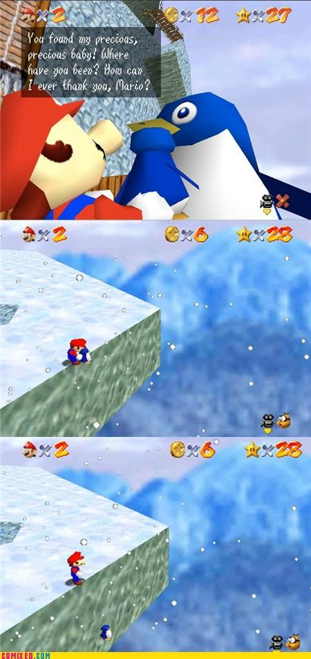 best of week,cruel,mario,nintendo 64,penguin,star,super mario 64,video games