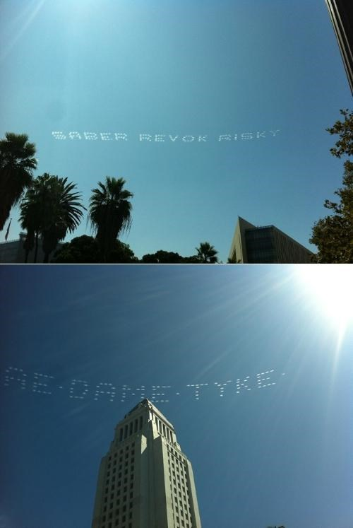 los angeles,saber,Sky Art,Street Art