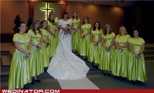 bride bridesmaids funny wedding photos ugly bridesmaids dresses - 5220956672