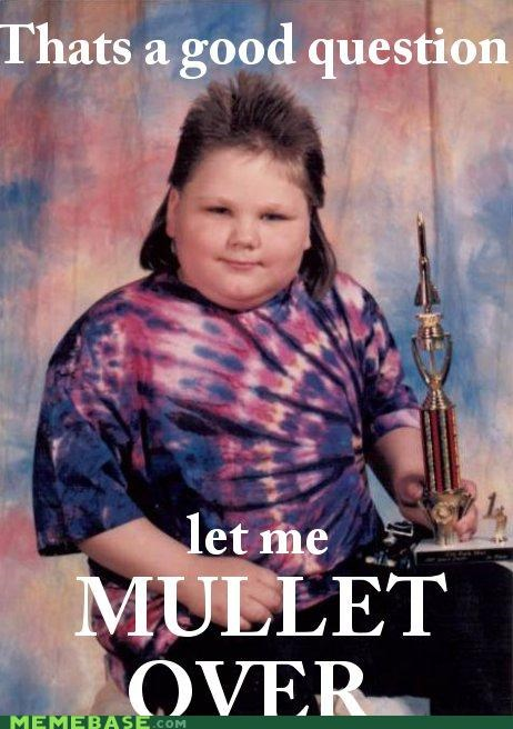 answer hairy kid Memes mullet question trophy - 5220958720