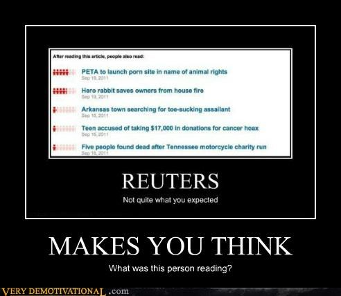 hilarious news reading reuters think