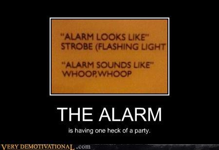 alarm hilarious Party sign - 5221019392