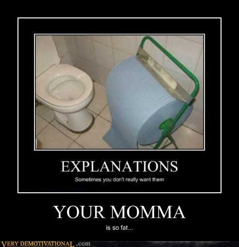 hilarious huge toilet paper your mamma - 5221079040