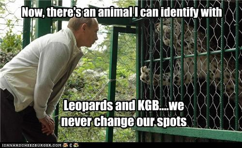 animals,cages,KGB,leopards,Pundit Kitchen,russians,Vladimir Putin