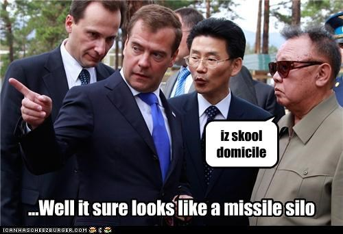 Dmitry Medvedev,Kim Jong-Il,North Korea,political pictures,russia
