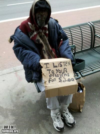 help homeless listening problems psychiatry sign talk