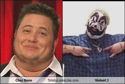 bad music,chaz bono,facepaint,insane clown posse,violent j