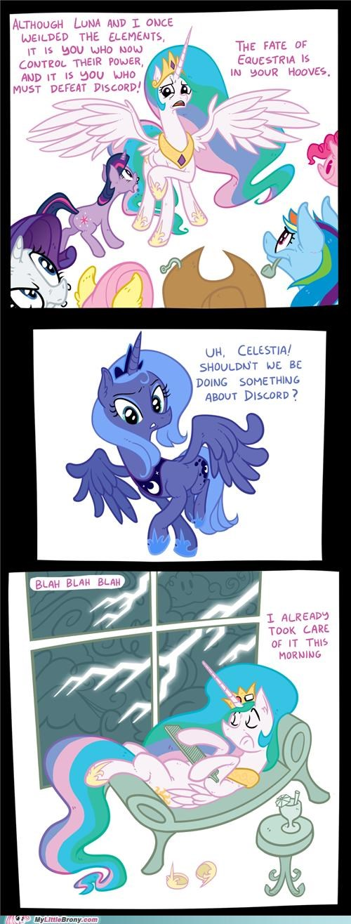 celestia comics elements of harmony luna mane six ponies