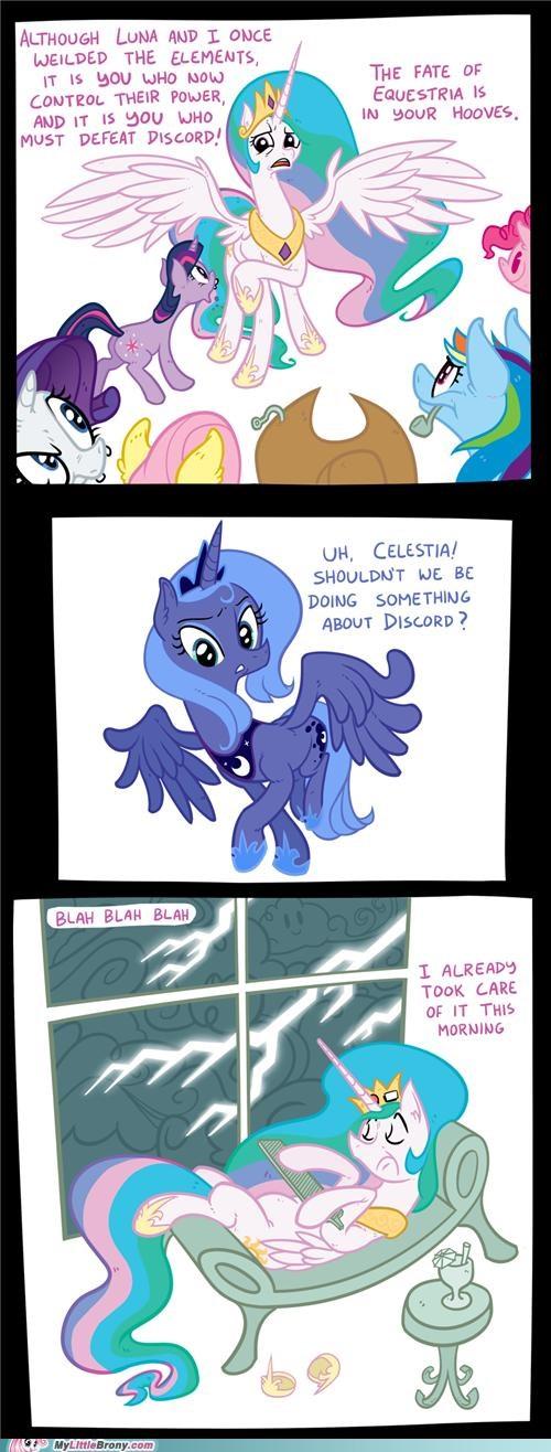 celestia comics elements of harmony luna mane six ponies - 5222148864