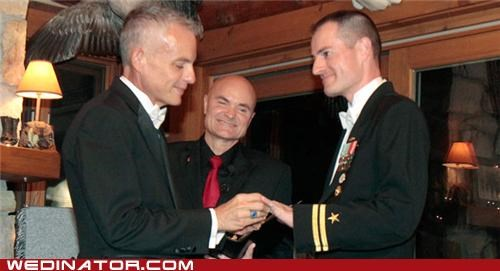 dont-ask-dont-tell funny wedding photos gay marriage Hall of Fame military navy - 5222555136