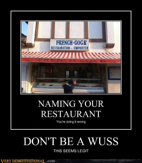 french hilarious restaurant wuss