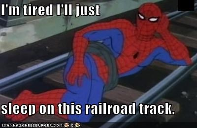 lying down railroad Spider-Man Super-Lols - 5222628864
