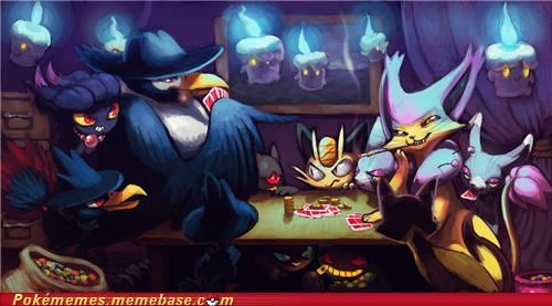 art dark honchkrow poker - 5222829568