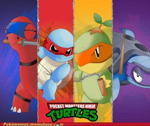 crossover pmnt Pokémon raphael squirtle TMNT - 5222840064