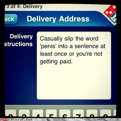 delivery Dominoes food service penis pizza - 5222933504
