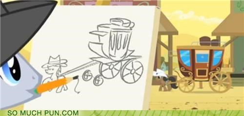 carriage double meaning drawing drawn horse horse-drawn horse-drawn carriage Inception literalism my little pony pony - 5222947584