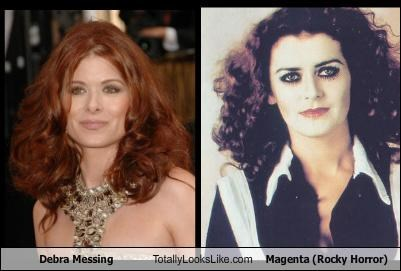 actresses curly hair debra messing patricia quinn red heads Rocky Horror Picture Show