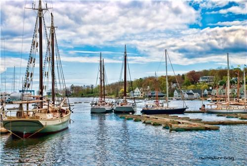 boats camden harbor clouds getaways harbor maine north america sailboats serene united states water - 5223175936
