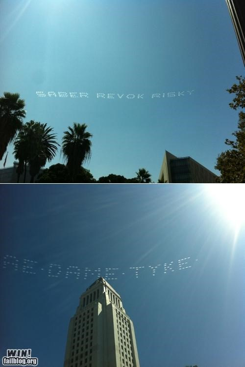 graffiti,LA,los angeles,news,politics,Protest,Sky Art