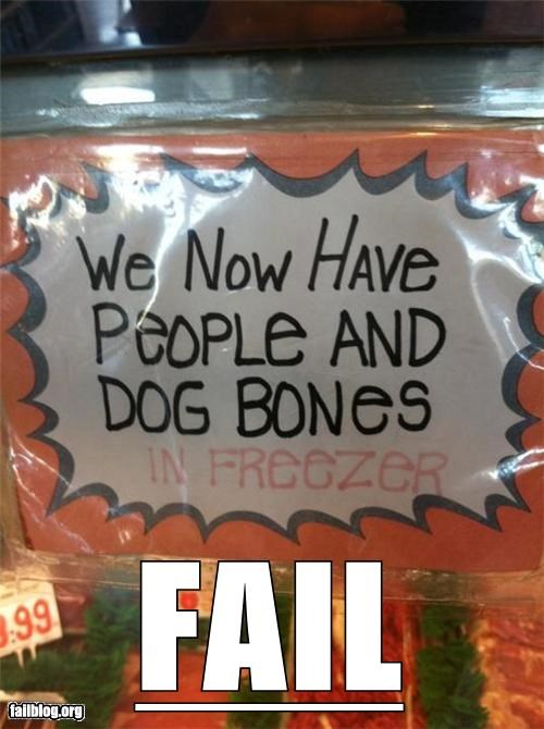cannibalism failboat food g rated grocery store signs - 5223339520