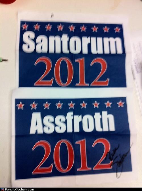 election 2012 political pictures Rick Santorum trolling - 5223385088
