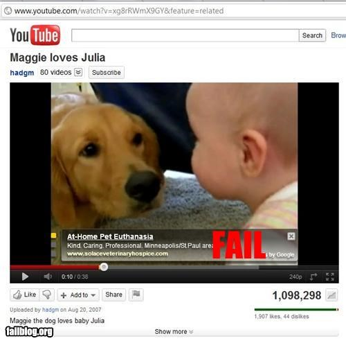 ads,euthanasia,failboat,g rated,juxtaposition,Sad,youtube