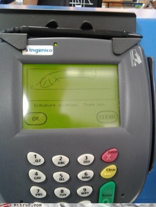 credit card p33n penis retail signature - 5223694336