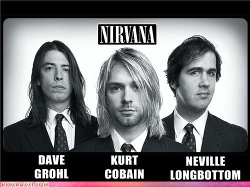 celeb,Dave Grohl,funny,Krist Novoselic,kurt cobain,Music