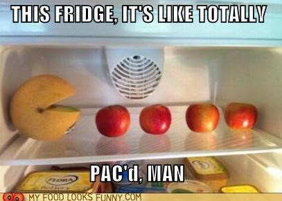 apples fridge fruit lol pac man