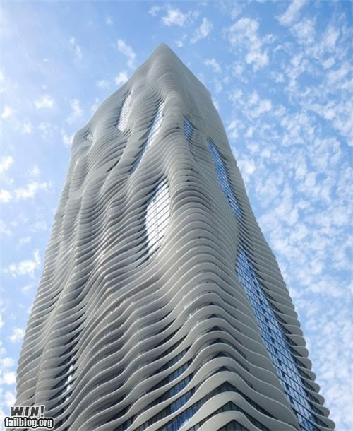 aqua,architecture,art,building,chicago,design,tower