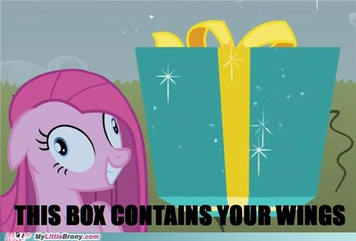 cupcakes lost the game pinkamena diane pie ponies present taking-rainbows-wings wings - 5224140288