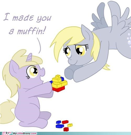 art derpy hooves i made this for you kids legos look what I can do muffin - 5224217344
